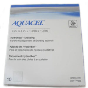 Convatec 177902 Aquacel Hydrofiber Dressings 4in x 4in