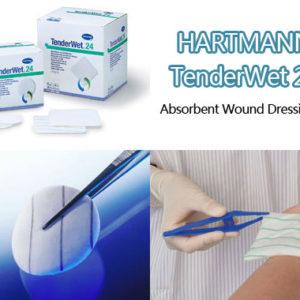 HARTMANN TENDERWET 24 ABSORBENT WOUND DRESSING PAD ROUND Ø5.5