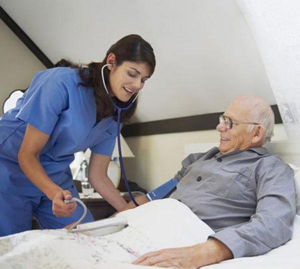 Care for bedridden patients in nursing home